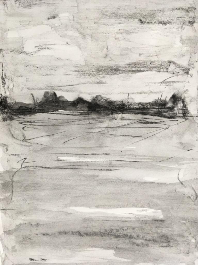 village, 2018, ink on paper, eve dumas